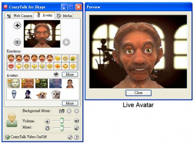 Reallusion CrazyTalk for Skype Media Edition 2.0 screenshot