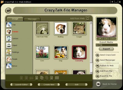 Reallusion CrazyTalk Web Edition 3.5 screenshot