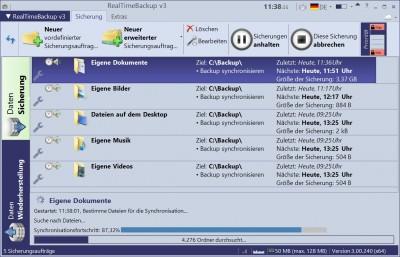 RealTimeBackup v3 3.00.240 screenshot