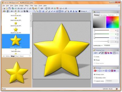 RealWorld Designer - Icon Editor 1.2.2005.0 screenshot