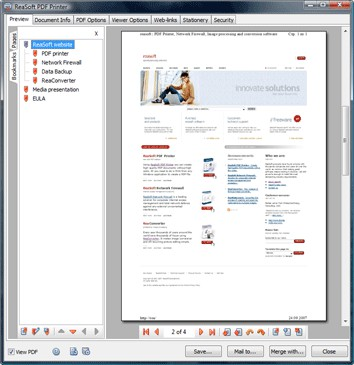 ReaSoft PDF Printer Server Edition 3.8 screenshot