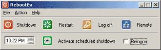 RebootEx 2.13 screenshot