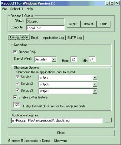 RebootIT 2.0 screenshot