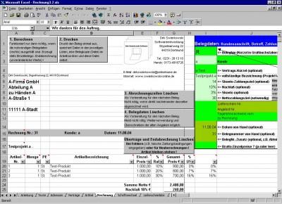 Rechnung3.2.xls 3.291 screenshot