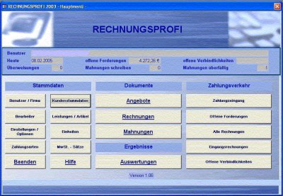 Rechnungsprofi 2003 1.05 screenshot