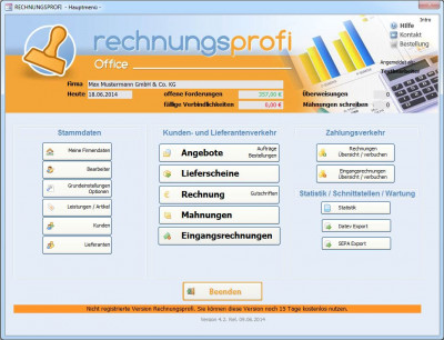 Rechnungsprofi Office 5.1 screenshot