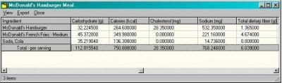 Recipe Box Nutrient Calculator 1.0 screenshot