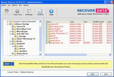Recover Data for FAT and NTFS 2.0 screenshot