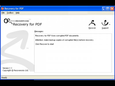 Recovery for PDF 1.1.0930 screenshot