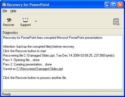 Recovery for PowerPoint 3.1.19636 screenshot