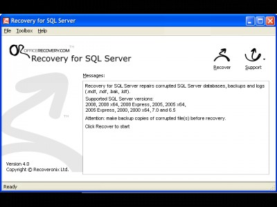 Recovery for SQL Server 4.7.19692 screenshot