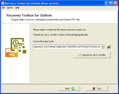 Recovery Toolbox for Outlook 1.0.10 screenshot