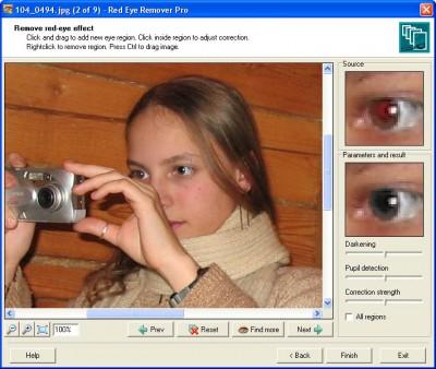 Red Eye Remover Pro 1.2 screenshot