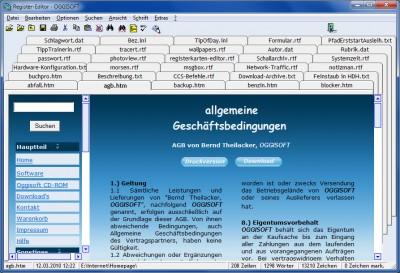 Registerkarten-Editor - OGGISOFT 2016.5.202 screenshot