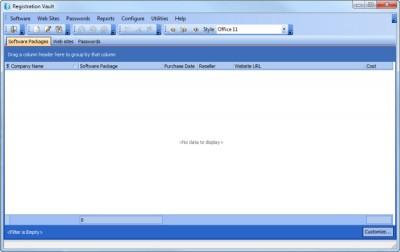Registration Vault 2.15 screenshot
