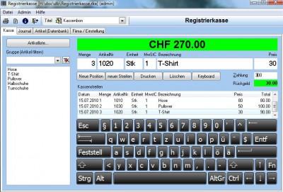 Registrierkasse 2.6.1 screenshot