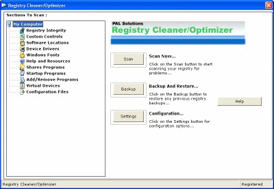 Registry Cleaner/Optimizer 1.01 screenshot