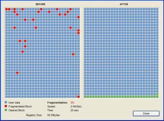 Registry Defragmentation 10.12.18.2 screenshot