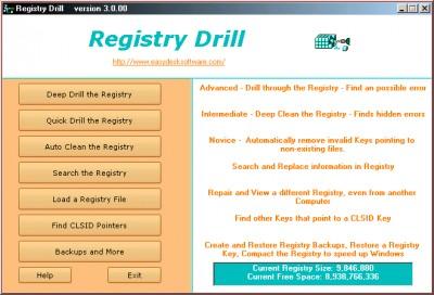 Registry Drill 4.3.0.2 screenshot