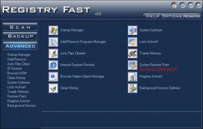 Registry Fast 7.16 screenshot