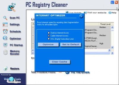 Registry Repair program 3.0 screenshot