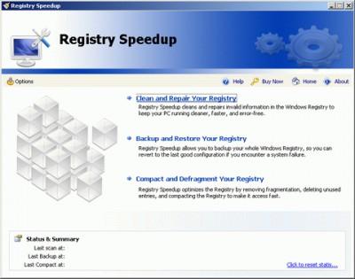 Registry Speedup 1.00 screenshot