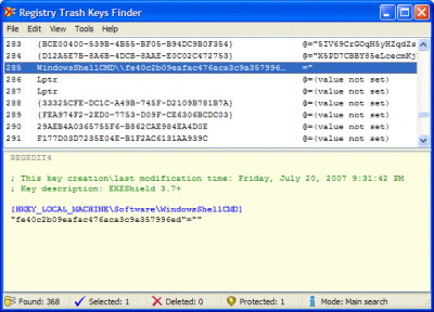Registry Trash Keys Finder 3.9.4.0 screenshot