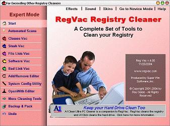 Regvac registry cleaner free download.