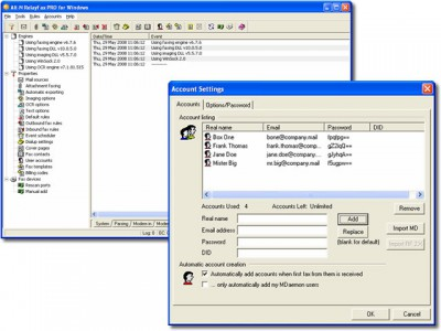 RelayFax Network Fax Manager 7.0.0 screenshot