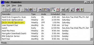 Reminders 2000 4.1 screenshot