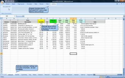 RemodelCOST Estimator for Excel 18.0 screenshot