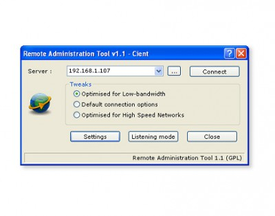 Remote Administration Tool 1.2 screenshot
