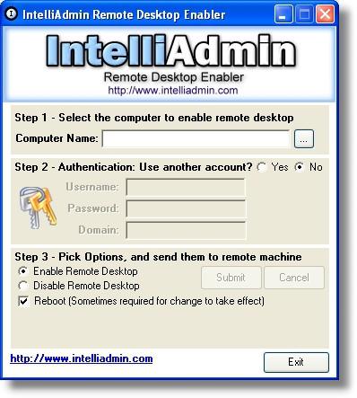 Remote Desktop Enabler 2.0 screenshot