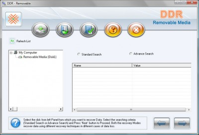 Removable Media Data Recover 2011.1105 screenshot