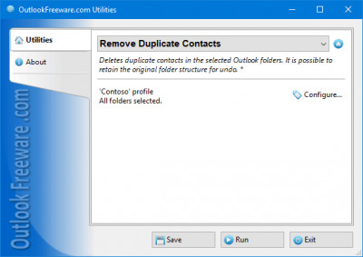 Remove Duplicate Contacts for Outlook 4.13 screenshot