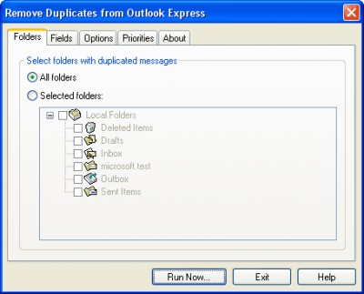 Remove Duplicates from Outlook Express 2.3 screenshot