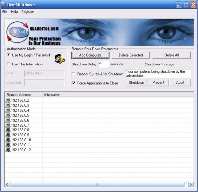 RemShutdown 2.9 screenshot
