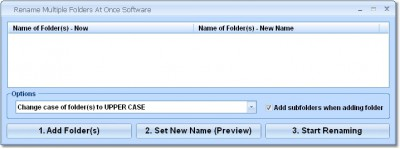 Rename Multiple Folders At Once Software 7.0 screenshot