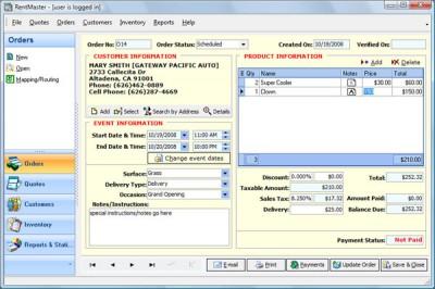 RentMaster 2.10 screenshot