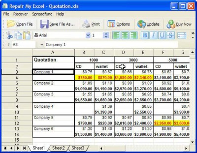 Repair My Excel 1.1.0.71 screenshot