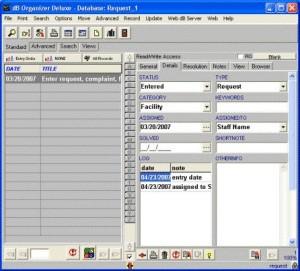 Request Organizer Deluxe 4.11 screenshot