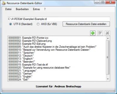 Ressource-Datenbank-Editor 2.4.2 screenshot