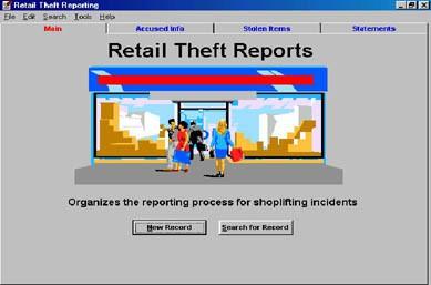 Retail Theft Report Program 1.2 screenshot
