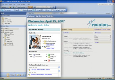 Reunion.com for Outlook 1.2.0 screenshot