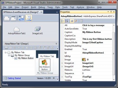Ribbon Designer for SharePoint 1.0 screenshot