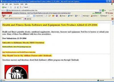 Ricks HTML Index Generator $2.00 with Resale Right 3.1 screenshot