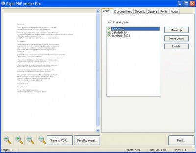Right PDF Printer SE 2.1 screenshot