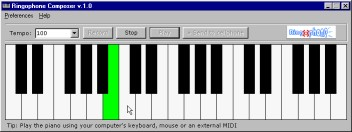 Ringophone.com ringtones composer 1.6 screenshot