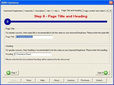 ROBO Optimizer Search Engine Optimization 2.5.5 screenshot