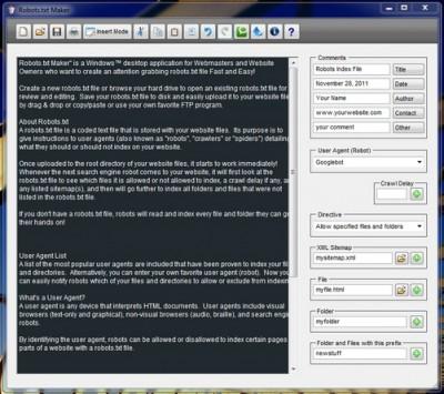 Robots.txt Maker 4.4 screenshot
